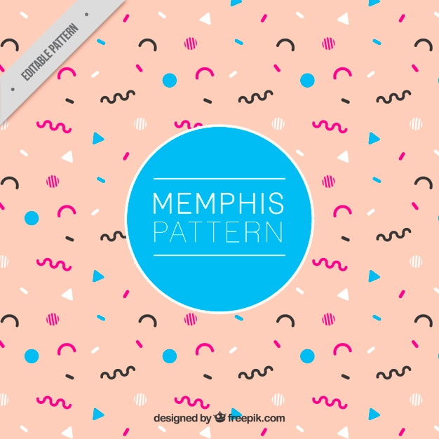 Abstract memphis style pattern Free Vector