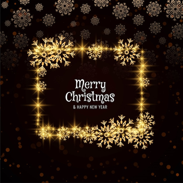 Abstract merry christmas glittering card Free Vector