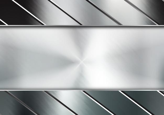 Abstract metal background Premium Vector