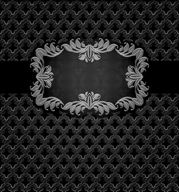 Abstract metal dark frame Premium Vector