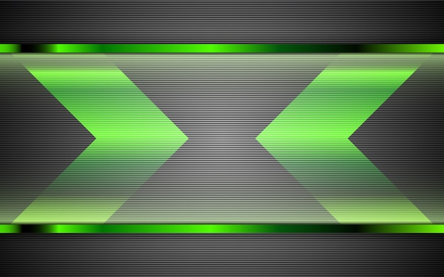 Abstract metal green shapes background Premium Vector