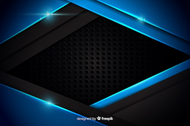 Abstract metallic blue background texture Free Vector