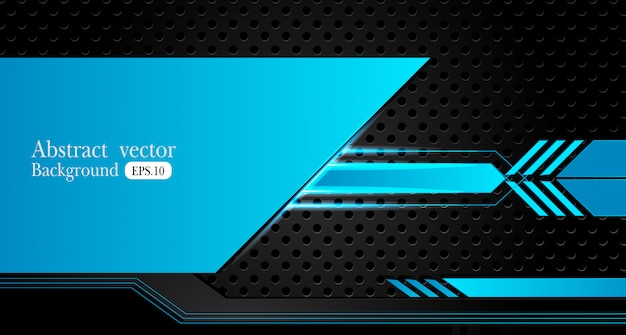 Abstract metallic blue black background Premium Vector