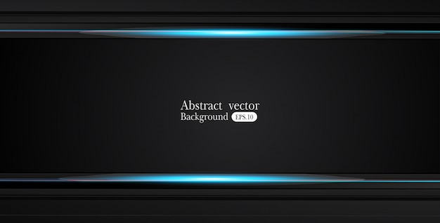 Abstract metallic blue black frame design innovation concept layout background Premium Vector