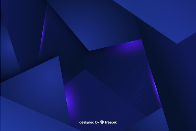 Abstract metallic blue decorative background Free Vector