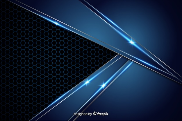 Abstract metallic blue texture background Free Vector