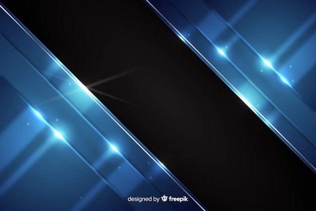 Abstract metallic dark blue background Free Vector
