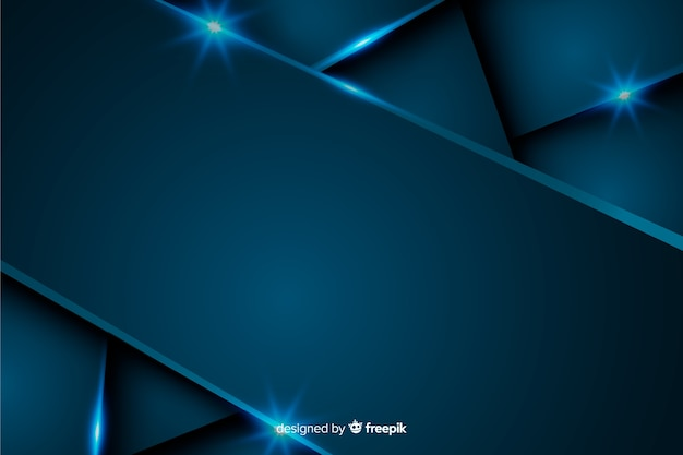 Abstract metallic dark blue background Free Vector