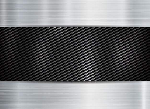 Abstract metallic frame carbon kevlar texture Vector