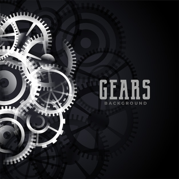 Abstract metallic gears background design Free Vector