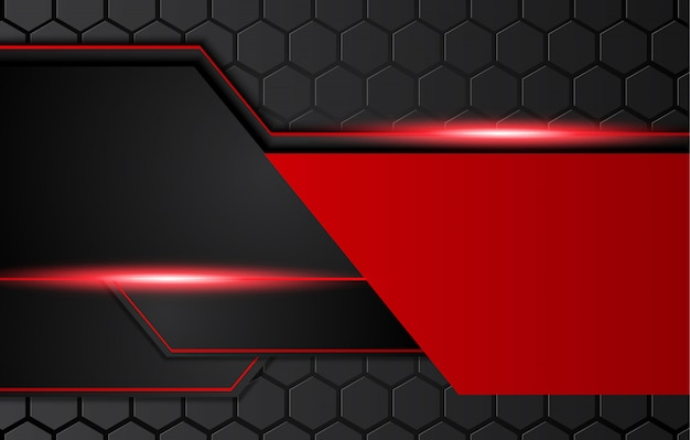 Abstract metallic red black background with contrast stripes. abstract  graphic brochure design Premium Vector