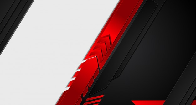 Abstract metallic red black background. Premium Vector