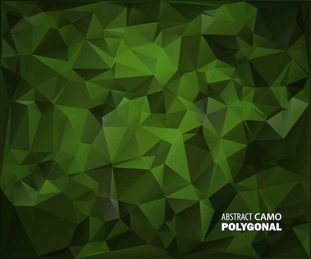 Abstract military camouflage background made of geometric triangles shapes. Premium Vector