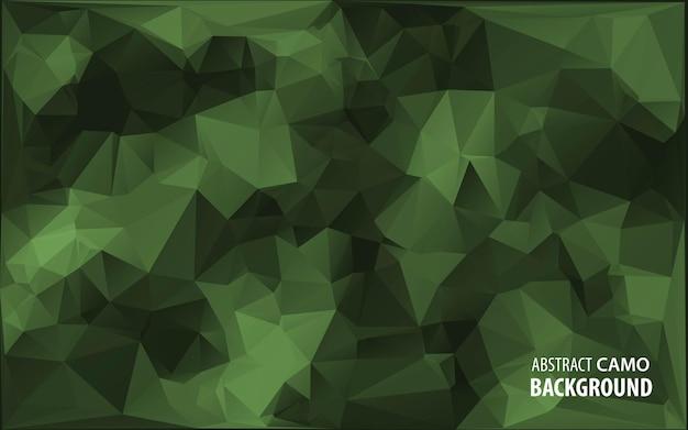 Абстрактный военный камуфляж фон из геометрических фигур треугольников. иллюстрация. Premium векторы