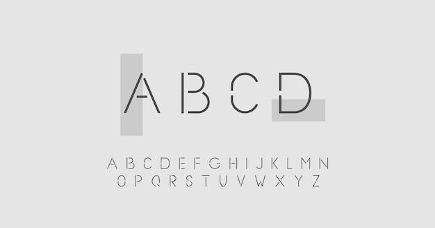 Abstract minimal alphabet concept Free Vector