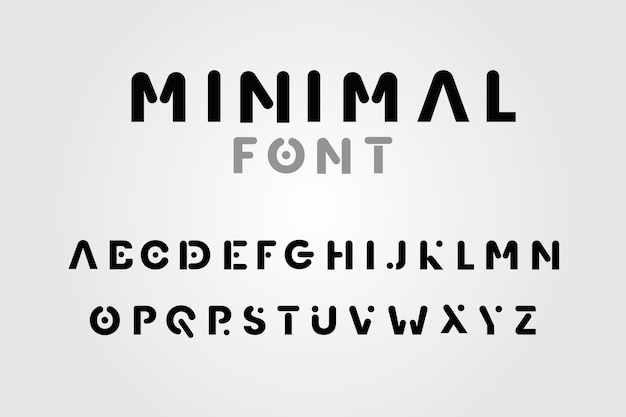 추상 최소한의 알파벳 디자인 프리미엄 벡터