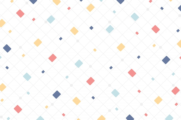 Abstract minimal colorful style of square design elements background. Premium Vector