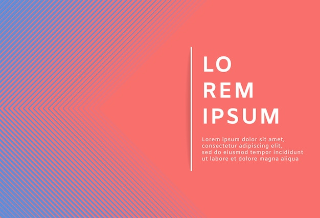 Abstract minimal geometric living coral background Premium Vector