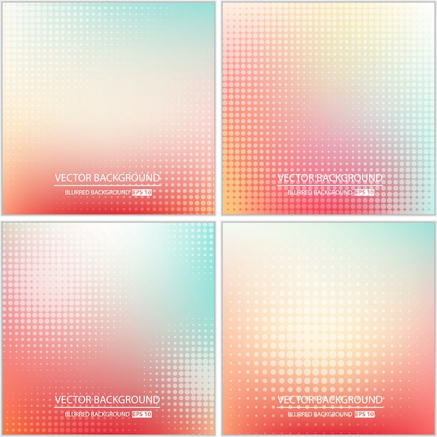 Abstract minimal multicolored background set. Premium Vector