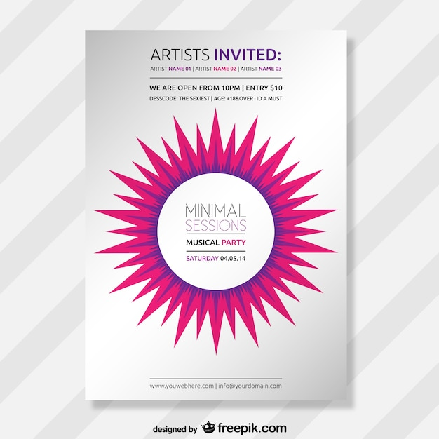 Abstract minimal party poster Vector | Free Download