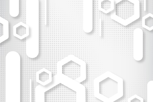 추상 최소한의 흰색 배경 무료 벡터