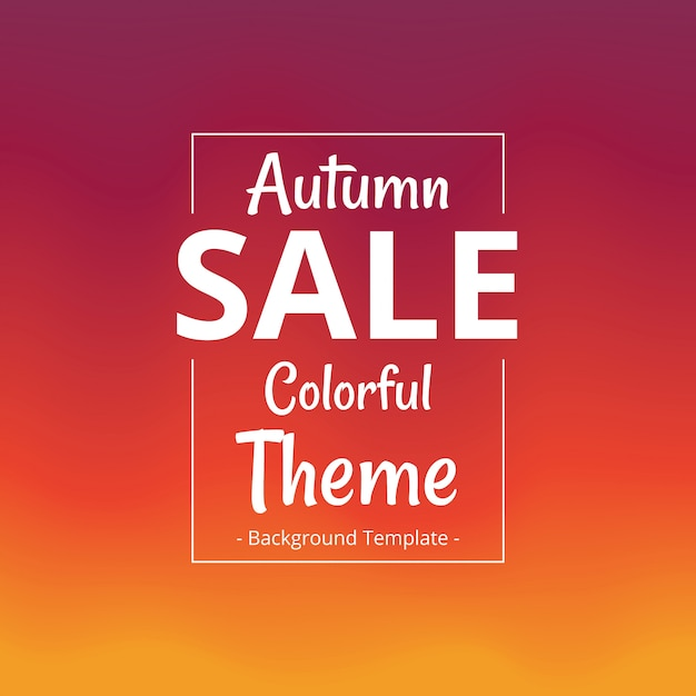 Abstract minimalist autumn theme sale colorful template Premium Vector