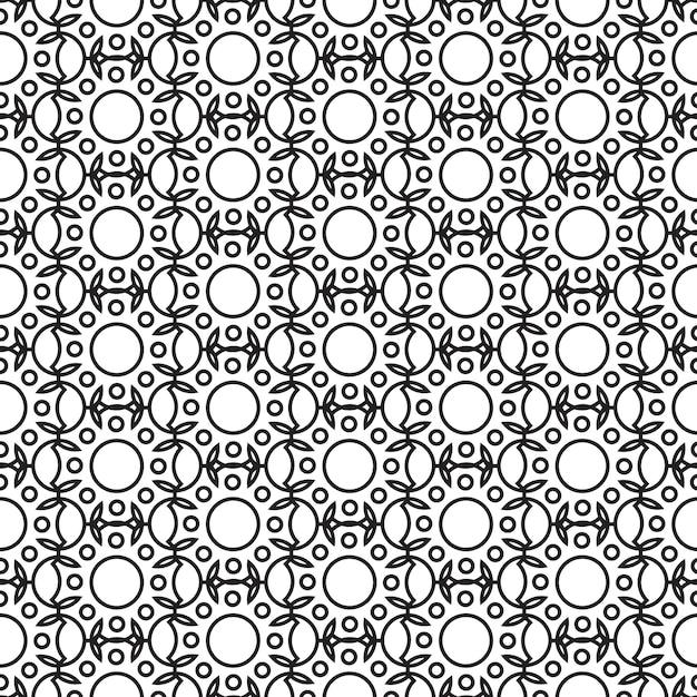 흑백 스타일 그림에서 기하학적 구조를 반복하는 추상 최소한의 원활한 패턴 무료 벡터