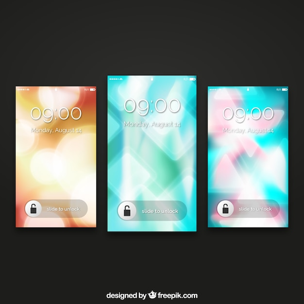 Abstract mobile wallpapers pack