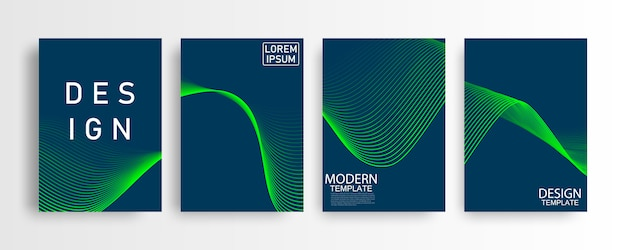 Abstract mockup a4 blue pattern and background poster with dynamic triangle. technology particle mist network cyber security  illustration. Premium Vector