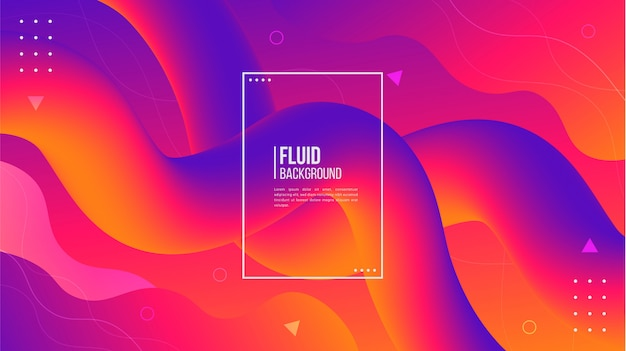 Abstract modern 3d fluid shape background Premium Vector