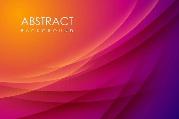 Абстрактный современный фон градиент цвета. желтый и розовый градиент с тенью украшения. Premium векторы