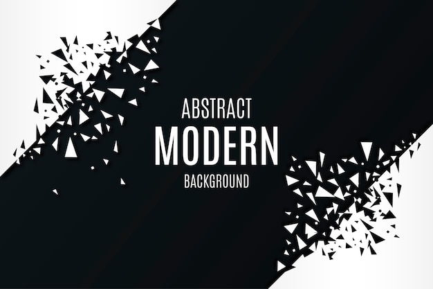 Abstract modern background with broken polygonal shapes Free Vector