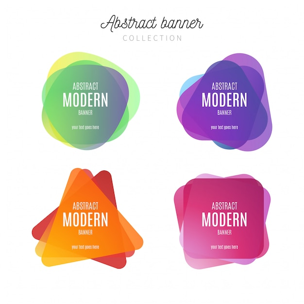 Abstract modern banner collection Free Vector