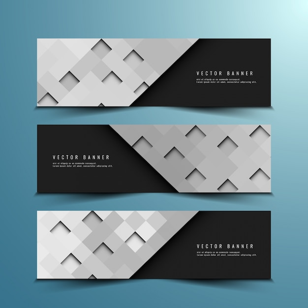Abstract modern banner designs set Free Vector