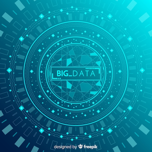 Abstract and modern big data background design Free Vector
