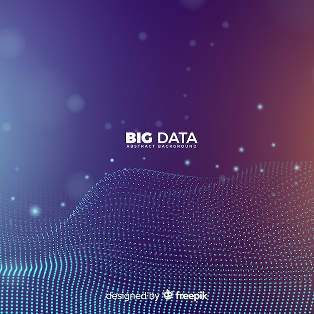 Abstract and modern big data background Free Vector