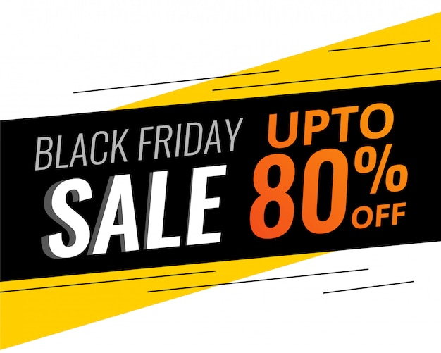 Abstract modern black friday discount and sale bannner Free Vector