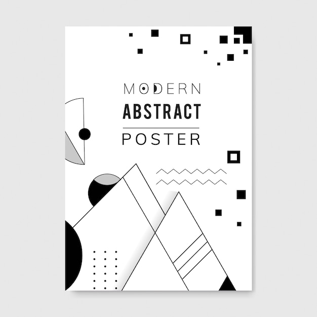 Abstract modern black and white template Free Vector