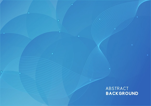 Abstract modern blue background design Premium Vector