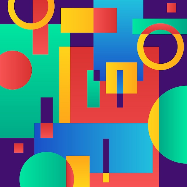 Abstract modern blue with geometric objects Free Vector