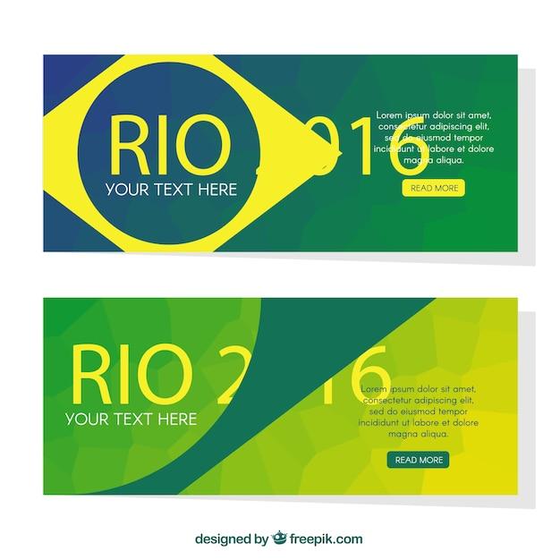 Abstract modern brazil 2016 banners