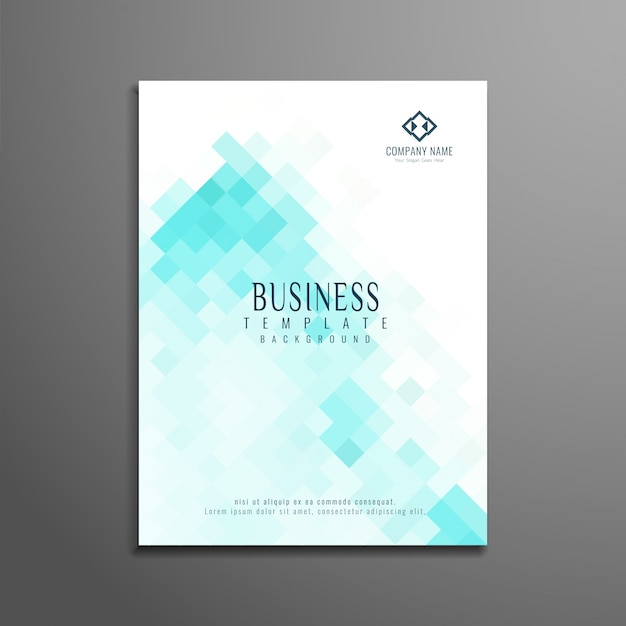 Abstract modern business brochure design