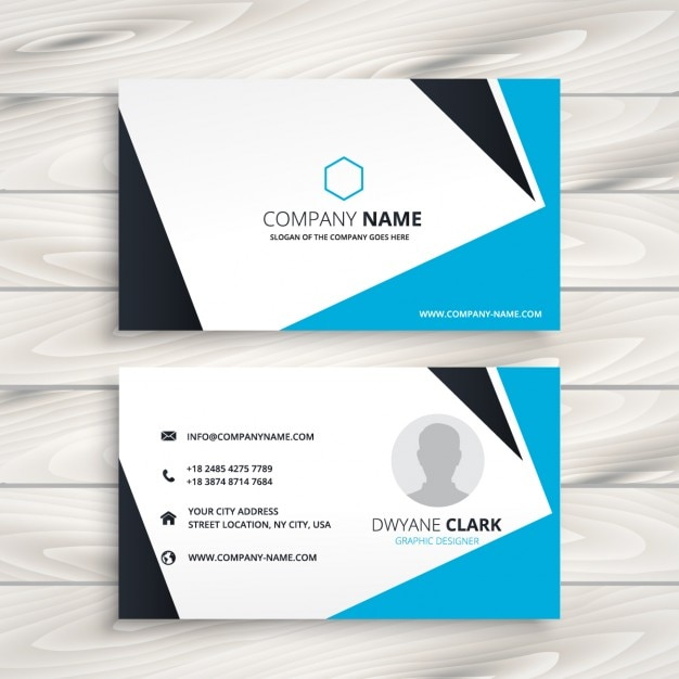Abstract modern business card vector free download abstract modern business card free vector reheart Images
