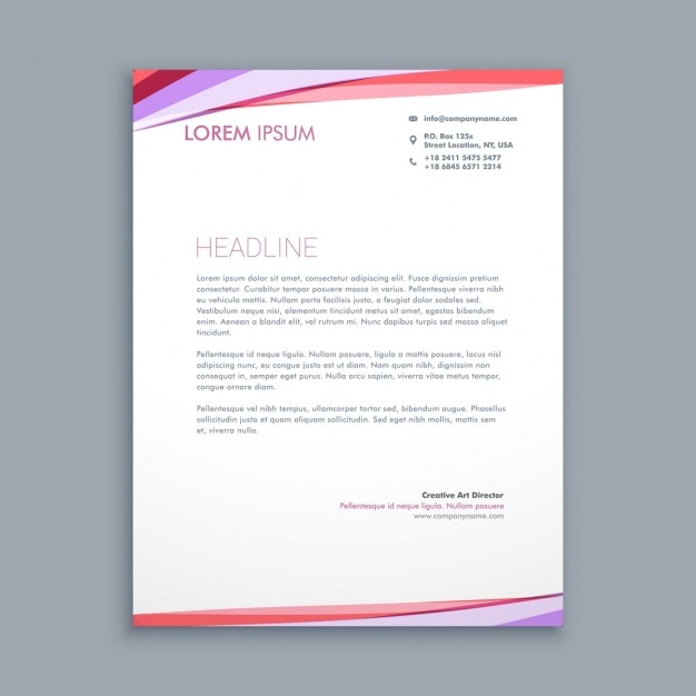 Abstract modern colored letterhead Free Vector