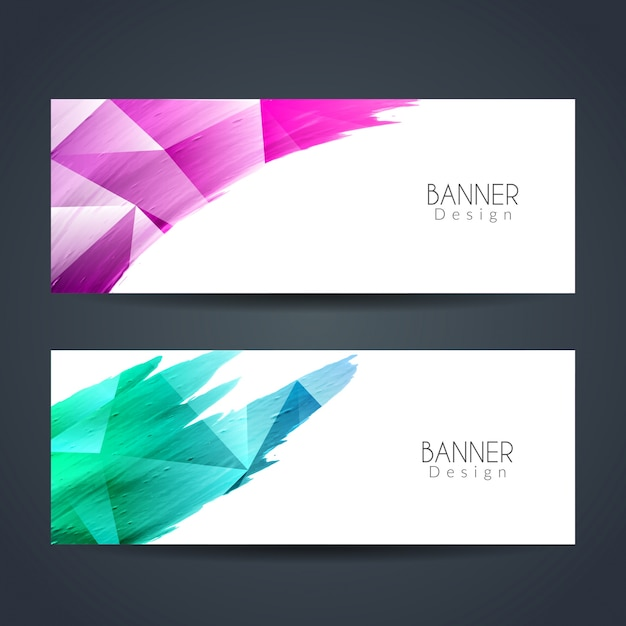 Abstract modern colorful banners