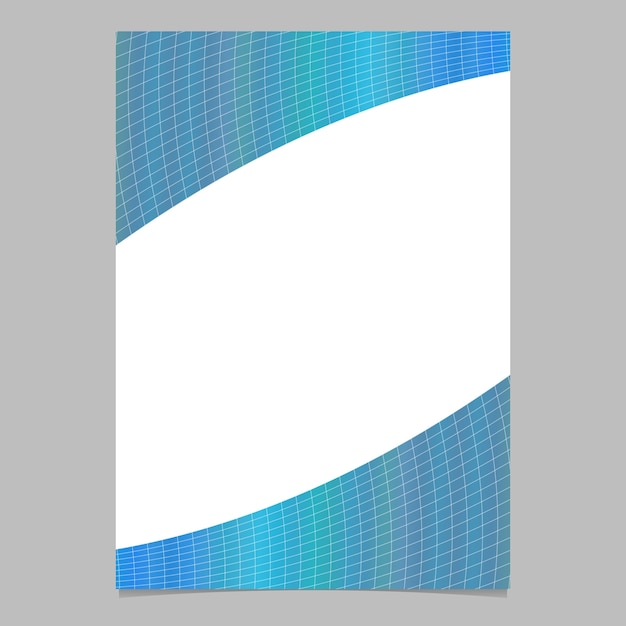 Abstract modern colorful gradient curved grid pattern page, brochure template