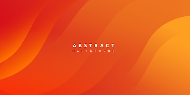 Abstract modern colorful gradient orange yellow curve background Premium Vector