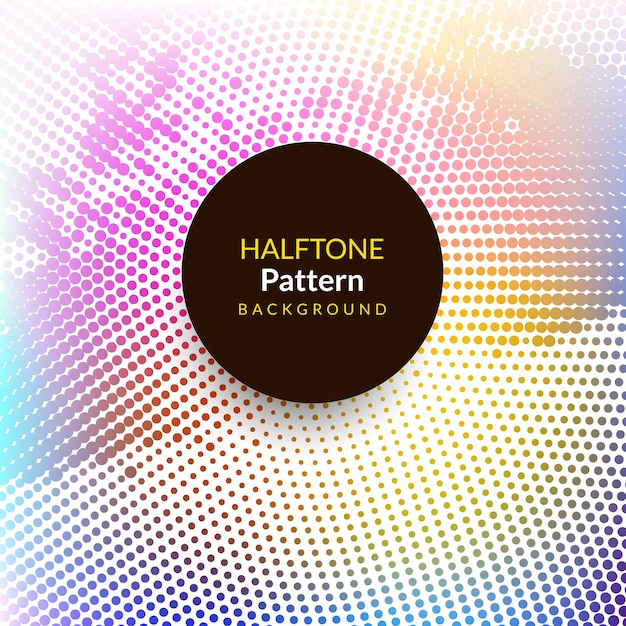 Abstract modern colorful halftone background