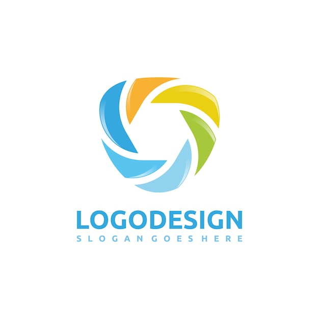 Abstract modern and colorful logo Free Vector