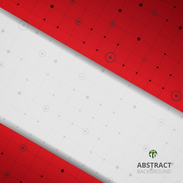 Abstract Of Modern Digital Graph In Red Gradient Background Premium Vector